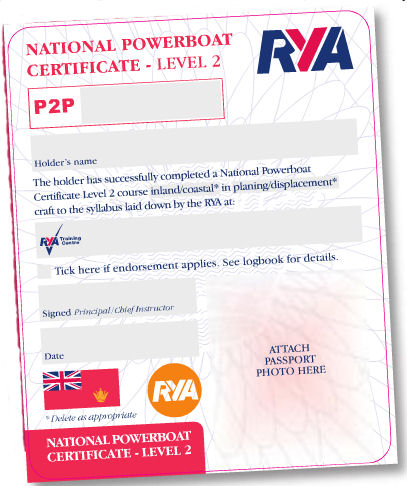 Image result for rya level 2 certificate