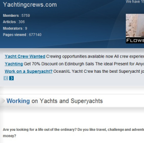 Yachting & Super Yacht Careers